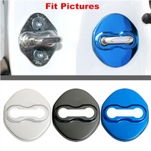 Set of 4Pcs Car Anti Rust Door Lock Catch Protective Cover Cap For Most Mitsubishi Lancer ASX Eclipse DoorLock With Cars Logo