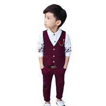 boys suits for weddings Gentleman Boy Suits Children blazers SetsWedding Party suit boy costume Vest + pants 2piece