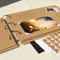 A4 56 P Kraft DIY Handgemachten Baby Album Kreative Paar Polaroid Foto Einfügen Familie Album Rahmen Fotoalben für Neugeborene