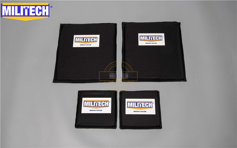 MILITECH 10x12 SC & 6x6 Inches Pairs Aramid Ballistic Panel Bullet Proof Plate Inserts Body Armor Soft Armour NIJ Level IIIA 3A