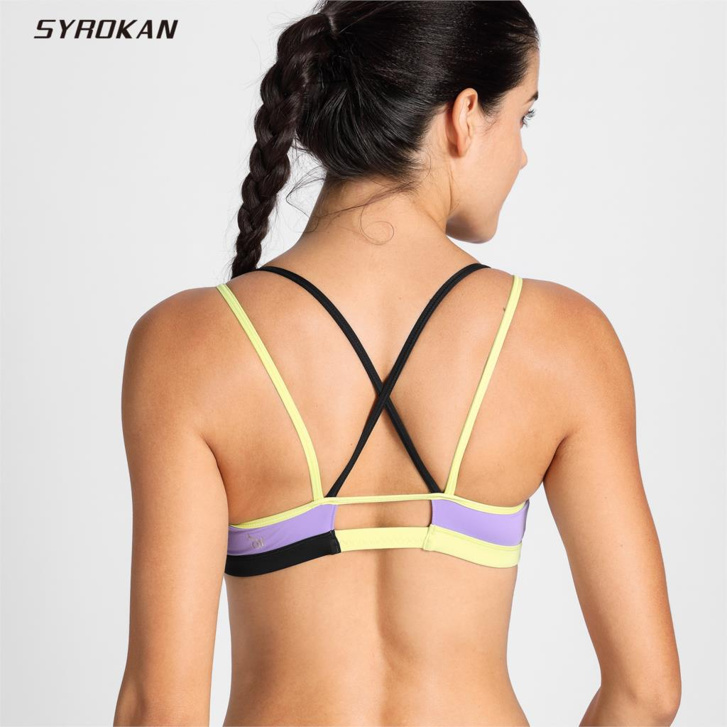 SYROKAN Womens Cool-look Criss Cross Strappy Padded Yoga Sports BraSYROKAN Womens Cool-look Criss Cross Strappy Padded Yoga Sports Bra