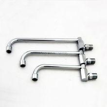 Цинк и латунь материал серебряный цвет 20-30 см носик 2 модели настенный вращать переключатель холодной воды кухонная раковина кран L15116