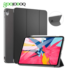 GOOJODOQ Case For iPad Pro 11 2018 Slim Lightweight Transparent PC Smart Cover Support Pencil Charging for iPad 11 Case Coque