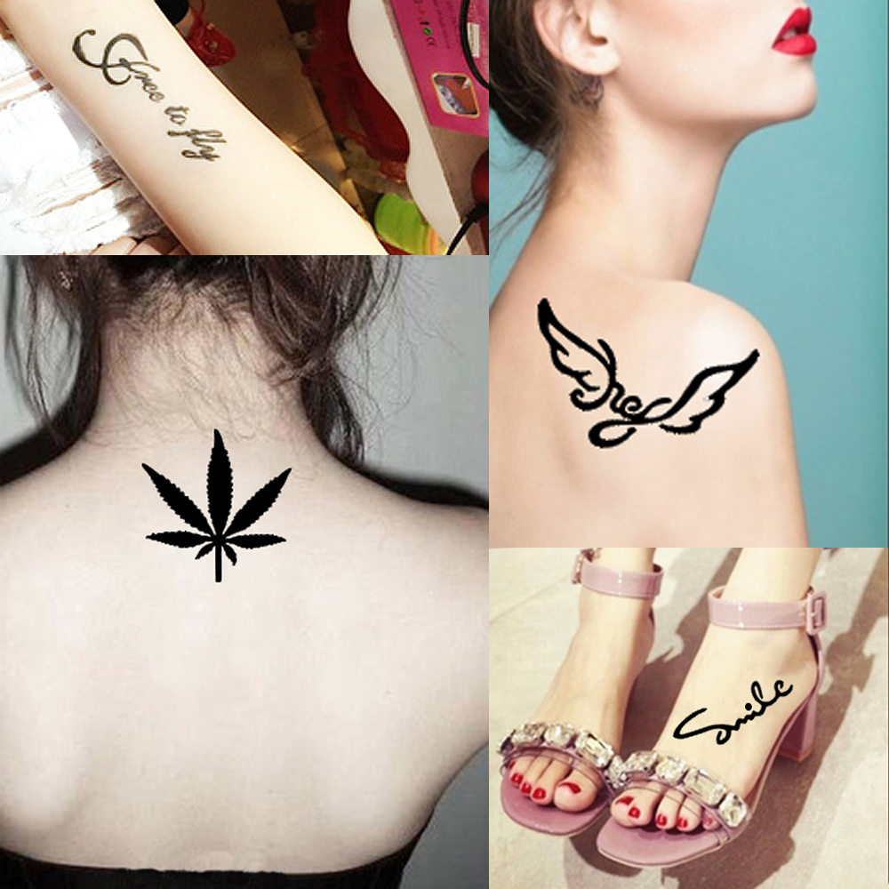 1pc Henna Tattoo Stencil Crown Word Pattern Drawing Women Body Art