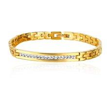 Звено цепи жёлтое золото заполненный aaa кубический цирконий