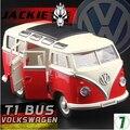MZ 1:24 VW T1 Bus Tipo 2 1950 coches Clásicos Van coche modelo de metal tire hacia atrás de sonido luz niños de juguete Volkswagen envío libre regalo boy