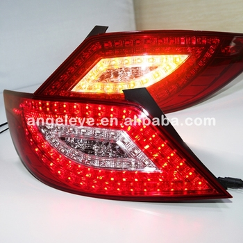 Accent Verna Solaris For Hyundai LED Tail Lamp 2011-2013 year WH