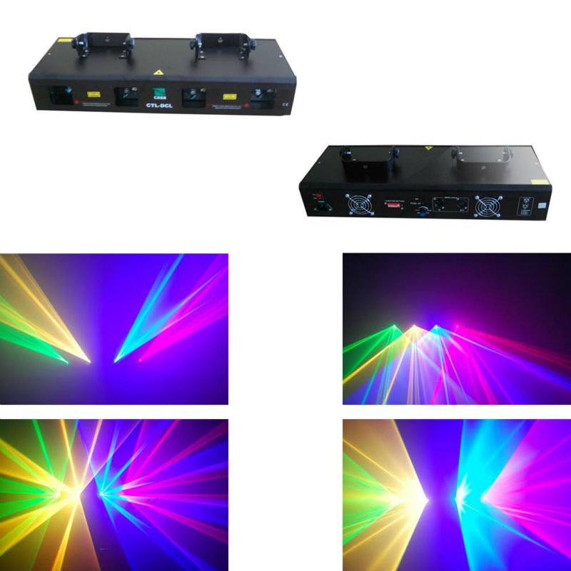 HOT SALE New stage light 50mW Green + 200mW Red laser + 150mW Yellow laser + 100mW Blue laser dj equipment for disco