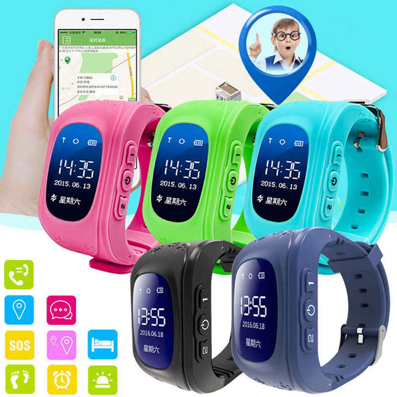 NEW Anti Lost Q50 OLED Child GPS Tracker Watch SOS Smart Monitoring Positioning Phone Wristband Baby Smart Watch for IOS Android