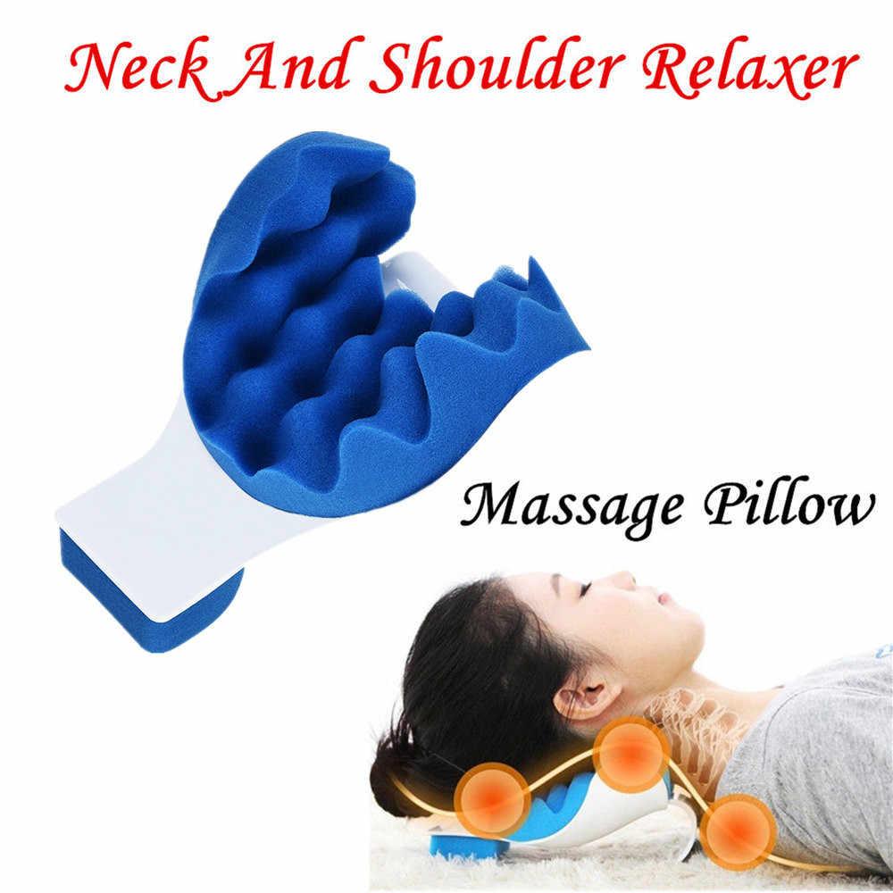 Schmerzen Relief Kissen Hals Und Schulter Muskel Relaxer Traktion Gerät für Zervikale Wirbelsäule Ausrichtung Neck Unterstützung Reise Kissen ^ 15