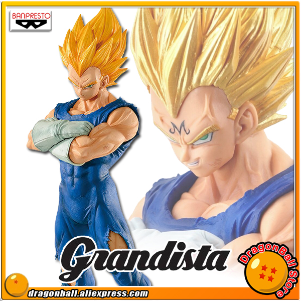 SALE Dragon Ball Z Original Banpresto Resolution of Soldiers Grandista Vol.2 Collection Figure Super Saiyan Majin Vegeta