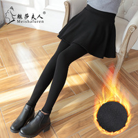Donna 2018 Autumn And Winter New Korean Temperament All Match With Velvet Warm Pants Quality Women