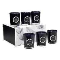 six piece suit Soy Wax Plant essential oils smokeless Scented glass Aromatherapy candles gift A102