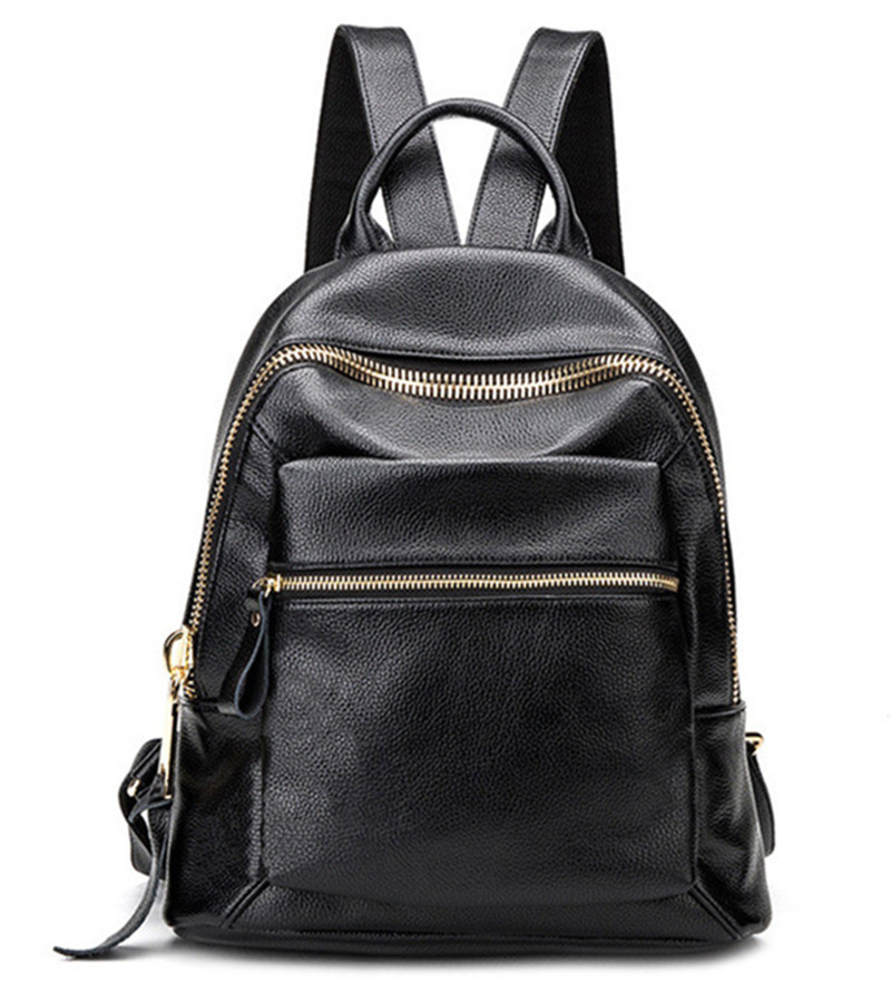 Hot New Casual Women Backpack Female Leather Women's Backpacks Black Bagpack Bags Girls Schoolbag Travel Bag back pack 2016 new fashion backpacks genuine leather soft bags women girls rhombus tassels zipper schoolbag satchels bagpack shoulder bag