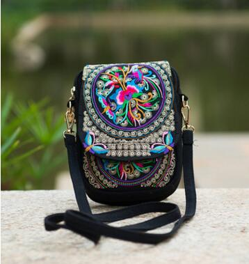New Ethnic Embroidery Women Small bag!Hot Vintage Embroidered canvas  shoulder messenger bags Handmade Multicolor Cute coins bags f0e4388fc