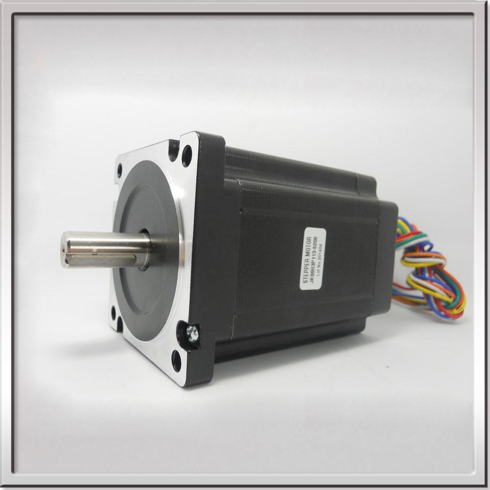 hight resolution of 86byg350 nema34 1 2degree 86mm 3phase 6wire 4 68v 5 2a 6n m 113mm hybrid stepper motor shaft 14x30mm with flat key 4 x 25mm