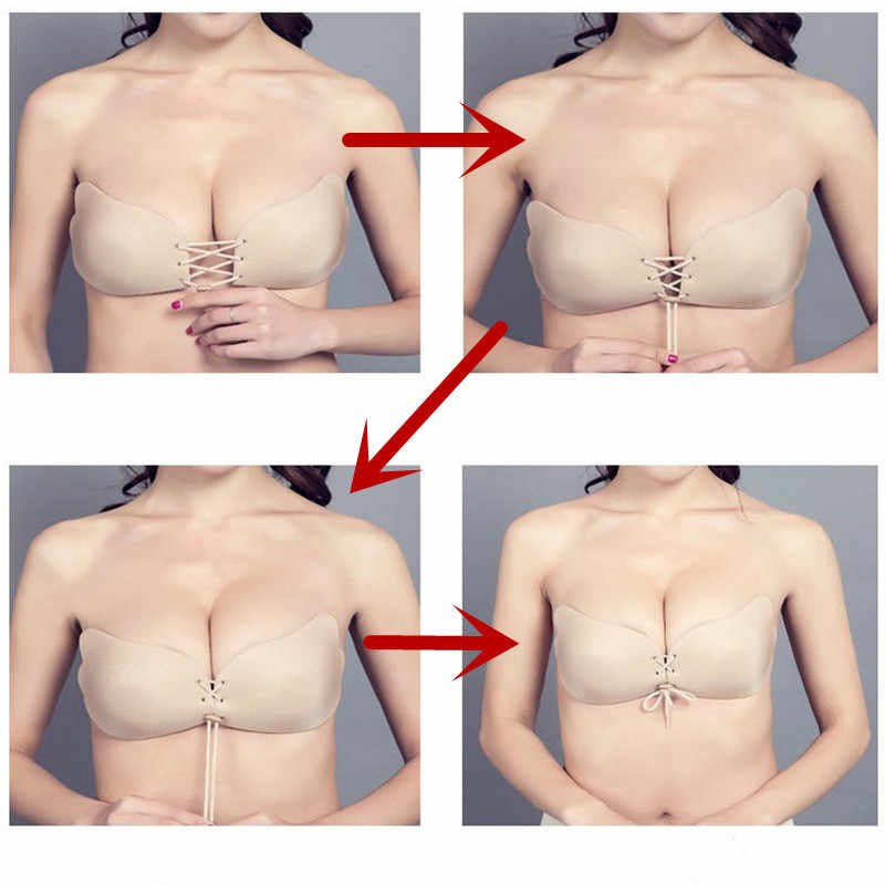 Sexy Bras Women Black Push Up Lace Bralette Hot Deep-V 3/4 Cup Brasier Plus Size Underwear A B C D Cup Fly Bra