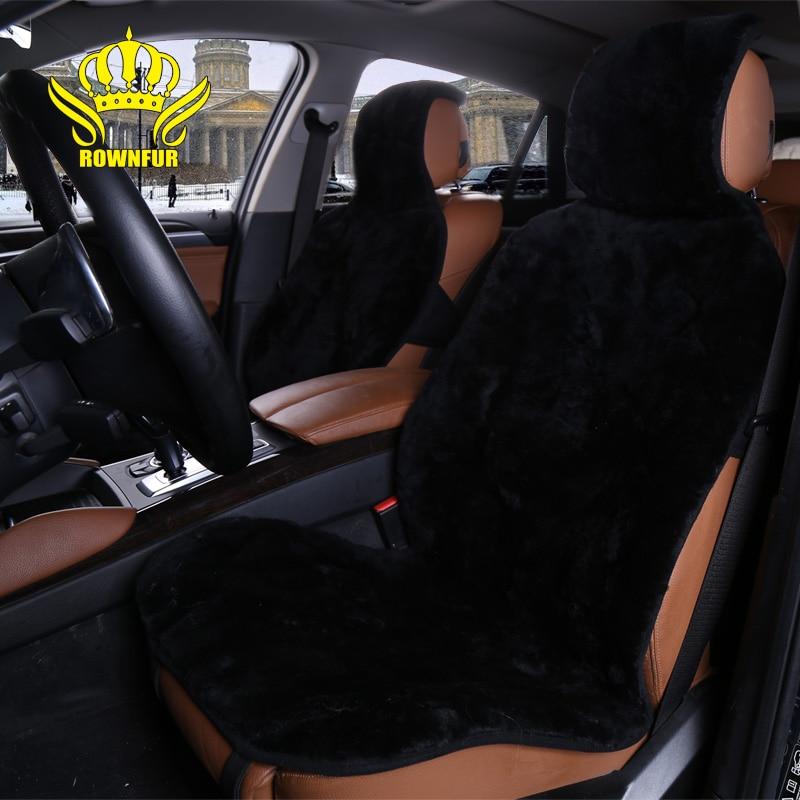 ROWNFUR Natural Australian sheepskin car seat covers universal size car accessories automobiles FOR lada granta renault logan