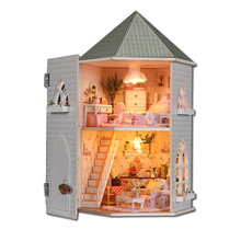 Creative DIY Doll House Miniature With Furnitures Wooden DollHouse Building Model Gift Love Fort Toys 13816 #E