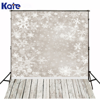 Kate Digital Printing Photography Background Wood Floor Backdrop Snowflake For Photography Backdrops Christmas