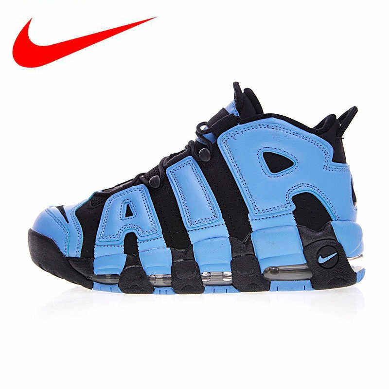f7de22b4c2311 Nike Air More Uptempo Men Running Shoes, Pippen Big Air Obsidian Blue Color  Sports Shoes