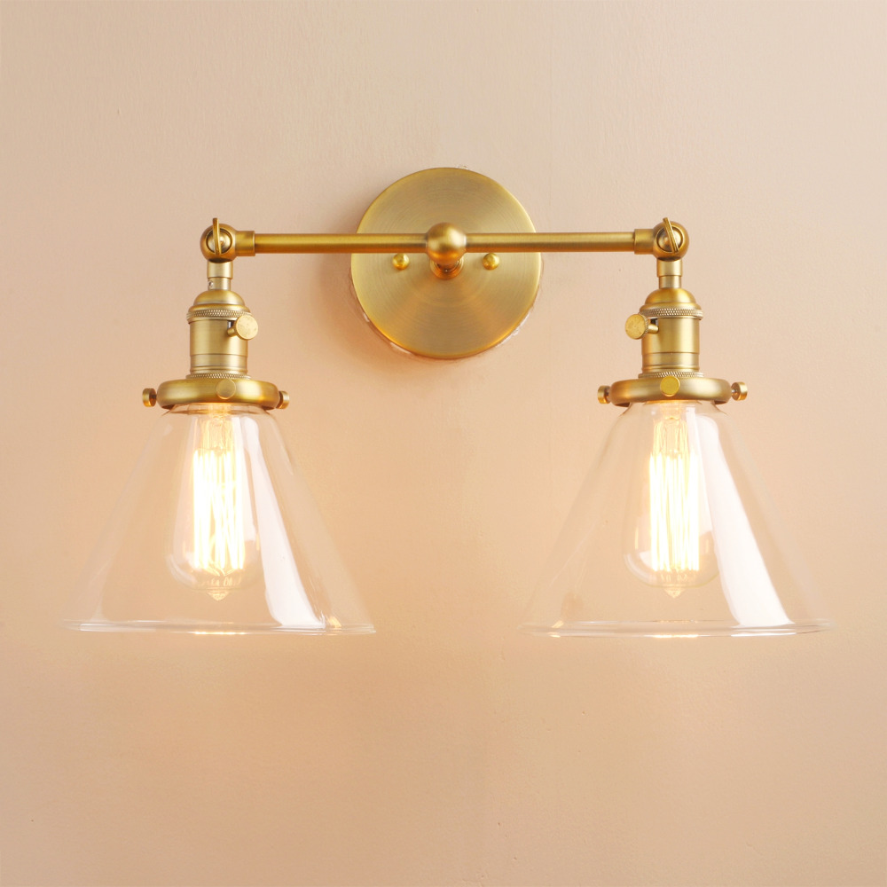 Permo Modern Wall Lights Wall Lamp Sconce 7.3 Funnel Glass Lampshade Wandlamp Bedroom Mirror lights Loft Decor Light FixturesPermo Modern Wall Lights Wall Lamp Sconce 7.3 Funnel Glass Lampshade Wandlamp Bedroom Mirror lights Loft Decor Light Fixtures