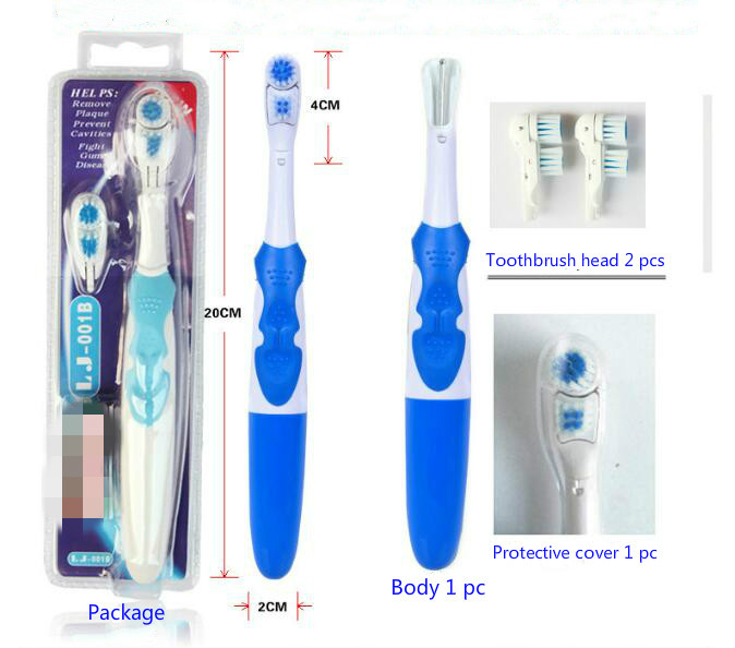 1024 1 set Electric Toothbrush Oral Hygiene Portable Battery Power Brush Tooth Brush Teeth image