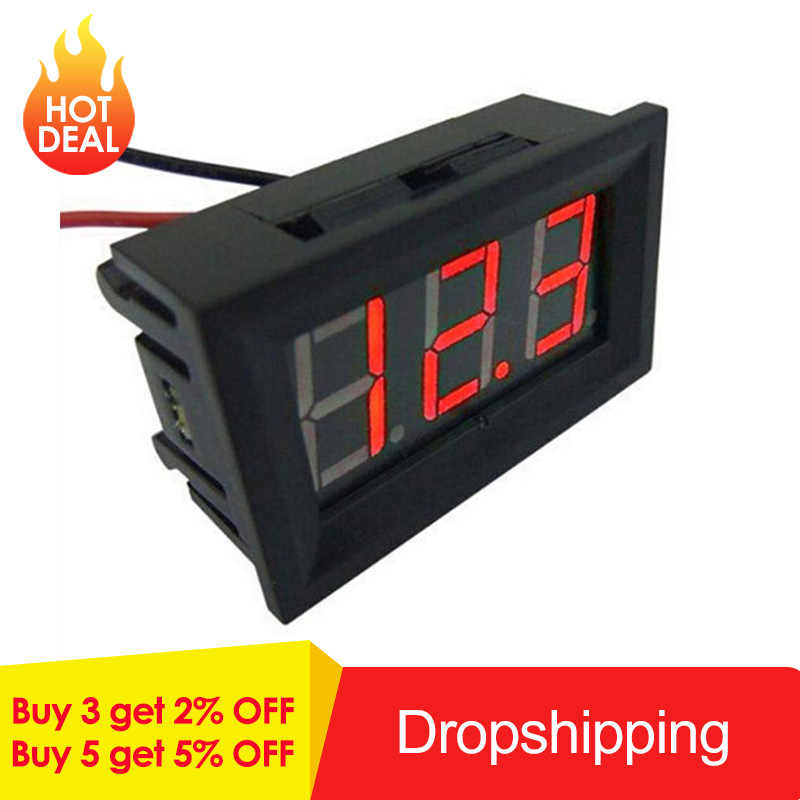 Mini Digitale Voltmeter Voltage Tester Meter Voltage Test Batterij DC 2.4 V-30 V 2 Draden voor Auto LED Display Gauge Accessoires