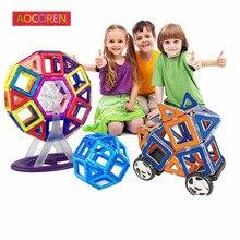 Aocoren Enfants Jouets 90 PCS Magformers Briques Éducatifs Magnétique Designer Jouet Carré Triangle Hexagonale 3D DIY Blocs de Construction