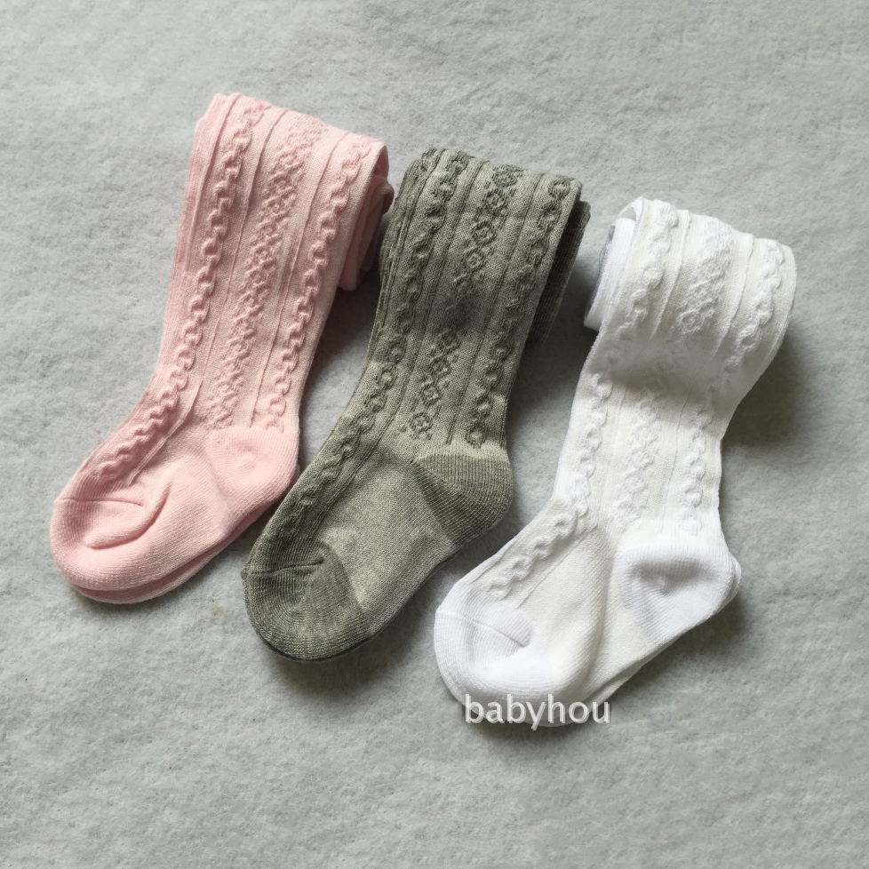 3pc/lot Baby Spring/Autumn Tights Cotton Baby Girl Pantyhose Kid Infant Knitted Collant Tights Soft Infant Clothing