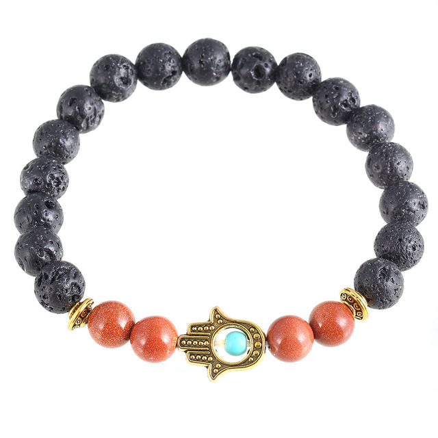 Brand Designer Summer Style Good Luck Hamsa Hand Bracelet Charm Starfish Bracelets Trendy Clic Jewelry E0348