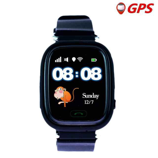 Q90 ساعة أطفال مزودة بنظام GPS ساعة ذكية للأطفال للأطفال ساعة Wmart الطفل على مدار الساعة مع موقع SOS دعوة أداة تتبع PK Q528 Q100