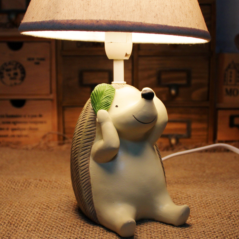 HGhomeart Hedgehog Cute Little Animals Childrens Room Desk Lamp Table Decoration In Lamps From Lights Lighting On Aliexpress