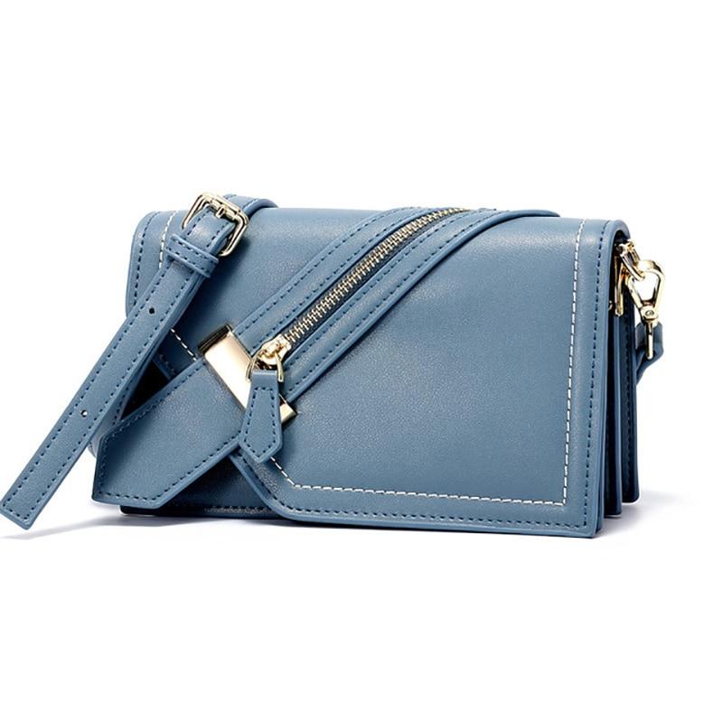 Genuine Leather Handbag New Small Square Bag Ladies Retro Shoulder Messenger Bag Vintage Modern Stylish Mobile Phone Bag B