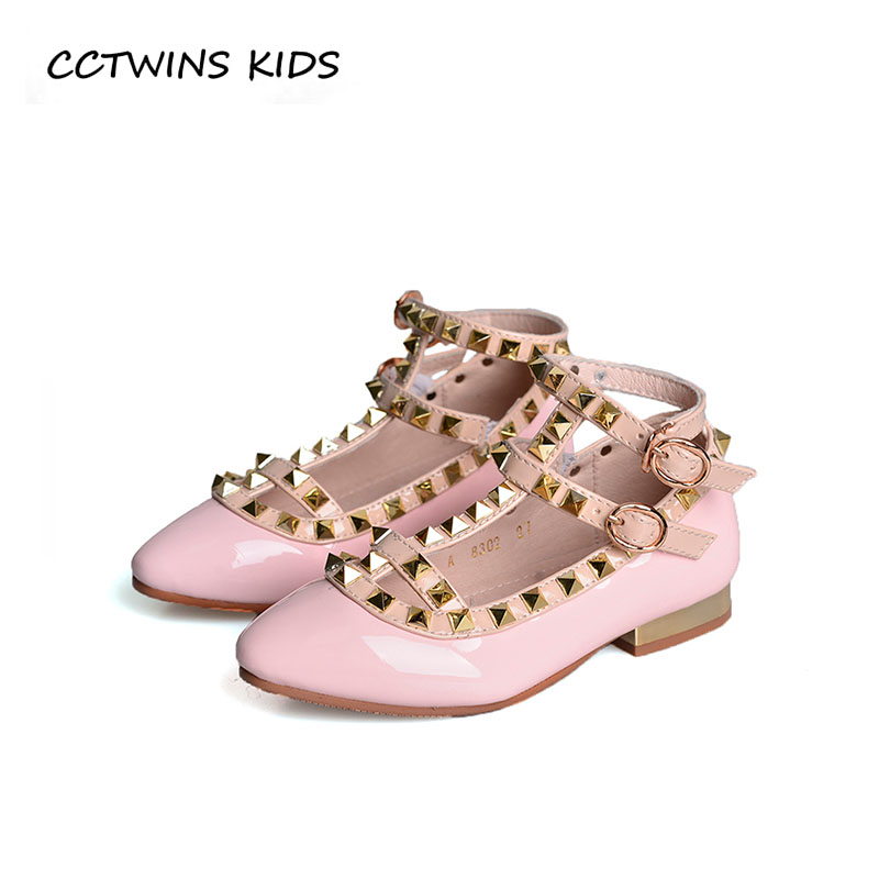 CCTWINS KIDS 2018 Autumn Baby Girl Stud Princess Party Shoe Children Pu Leather Heel Toddler Brand Mary Jane Black GM2184 wendywu 2017 spring toddler fashion pu leather mary jane baby girl rhinestone princess ballet children heeled shoe black