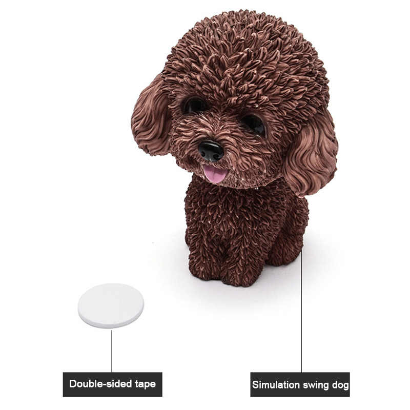 Shaking Head Dog Ornament Resin Cute Nodding Decoration Gift For Car Interior Home Room YAN88