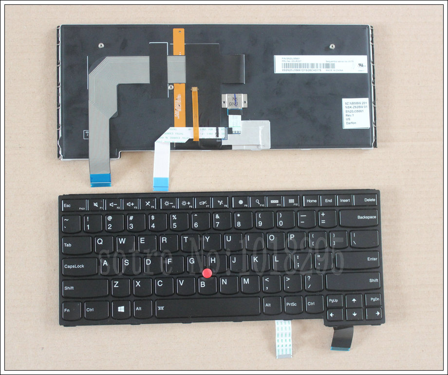 New Laptop US Layout Keyboard For Lenovo Thinkpad S3 YOGA 14  With Backlit new us laptop keyboard with backlit for lenovo yoga 14 thinkpad s3 series p n 00wh763 47m004d sn20f98414 cb 84us mp 14a83usj442