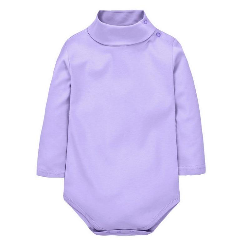 Baby Boys Girls Rompers 11 színek Újszülött ruhák Gyerek jelmez forduló gallér ruházat csecsemőknek KF099