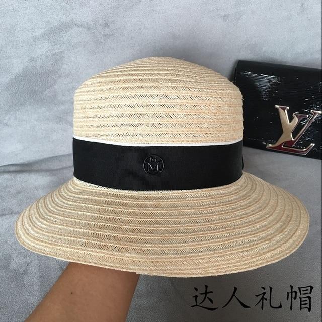 Чунь ся новый купол потолка с тонким бельем бассейна шляпа широкий брим топи М стандарт соломенная шляпа в Европе и пляж шляпа