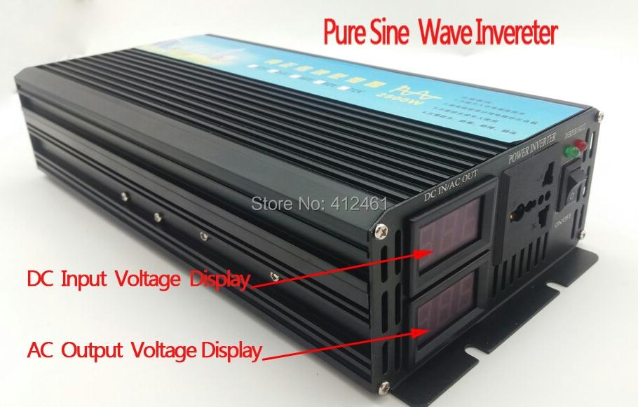 цена на 2500W pure sinus inverter 2500W Pure Sine Wave Inverter 5000W Peak, 24vdc to 230VAC Power Inverter