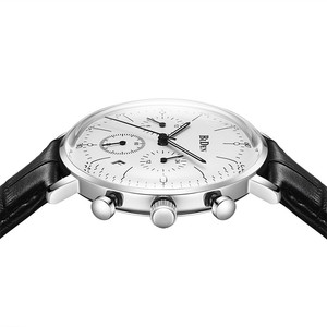 Image 4 - Biden 高級時計の男性トップブランドレザーストラップクロノグラフ防水スポーツクォーツ腕時計メンズファッションビジネス男性時計