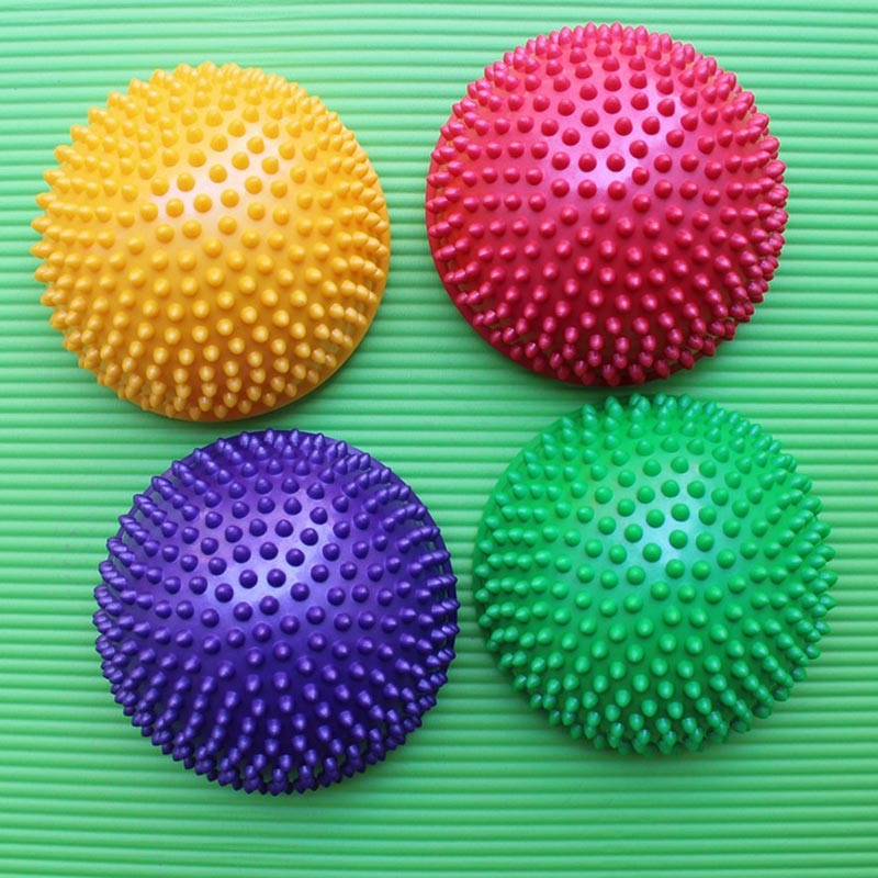 Hedgehog Sensory Inflatable Half Sphere Yoga Balls PVC Massage Fitball Exercises Trainer Balancing Ball For Gym Sport Fitness