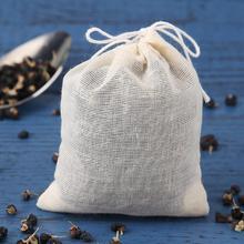 20 шт./лот, пустые чайные пакетики со струнками, чайная посуда, фильтр для травяной листовой чай, суп, ароматизатор, чайные пакетики для приготовления пищи, кухонные принадлежности
