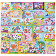 31 designs /lot DIY Cartoon Animal 3D EVA Foam Sticker Puzzle Series E Early Learning Education Toys for Children