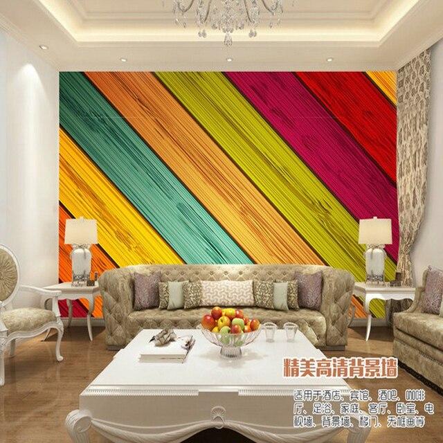 Aliexpress.com : Buy Natural 3D wallpaper Imitation wood wallpaper ...