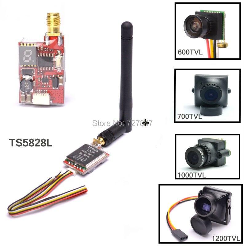 ReadytoSky TS5828L Micro 5,8G 600 mW 48CH Mini FPV Sender + 600TVL/700TVL/1000TVL/1200TVL Kamera