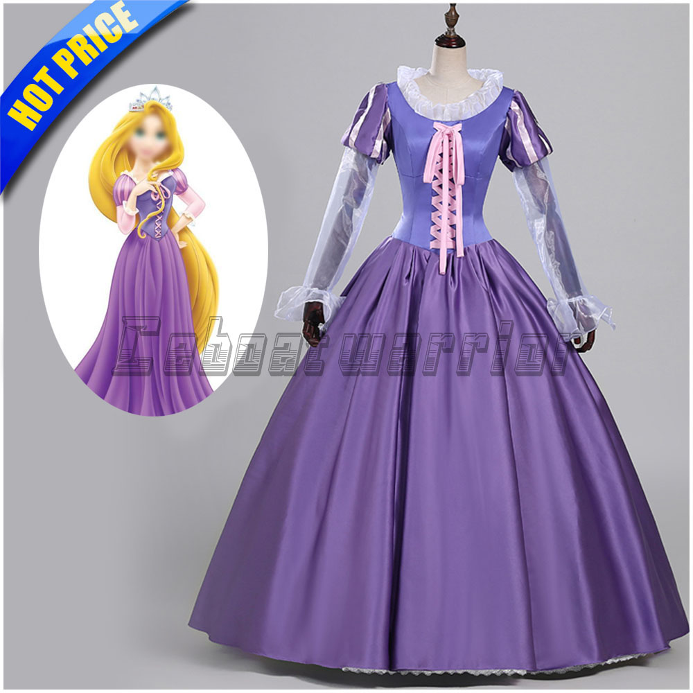 Tangled Rapunzel cosplay costume Adult Princess Rapunzel fancy Dress Custom made
