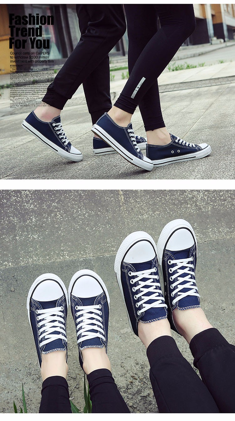 Hellozebra Men Casual Canvas Shoes Classical Lace Up Solid Flats Breathable Board Soft Leather Students Shoes 2016 Autumn New  (17)