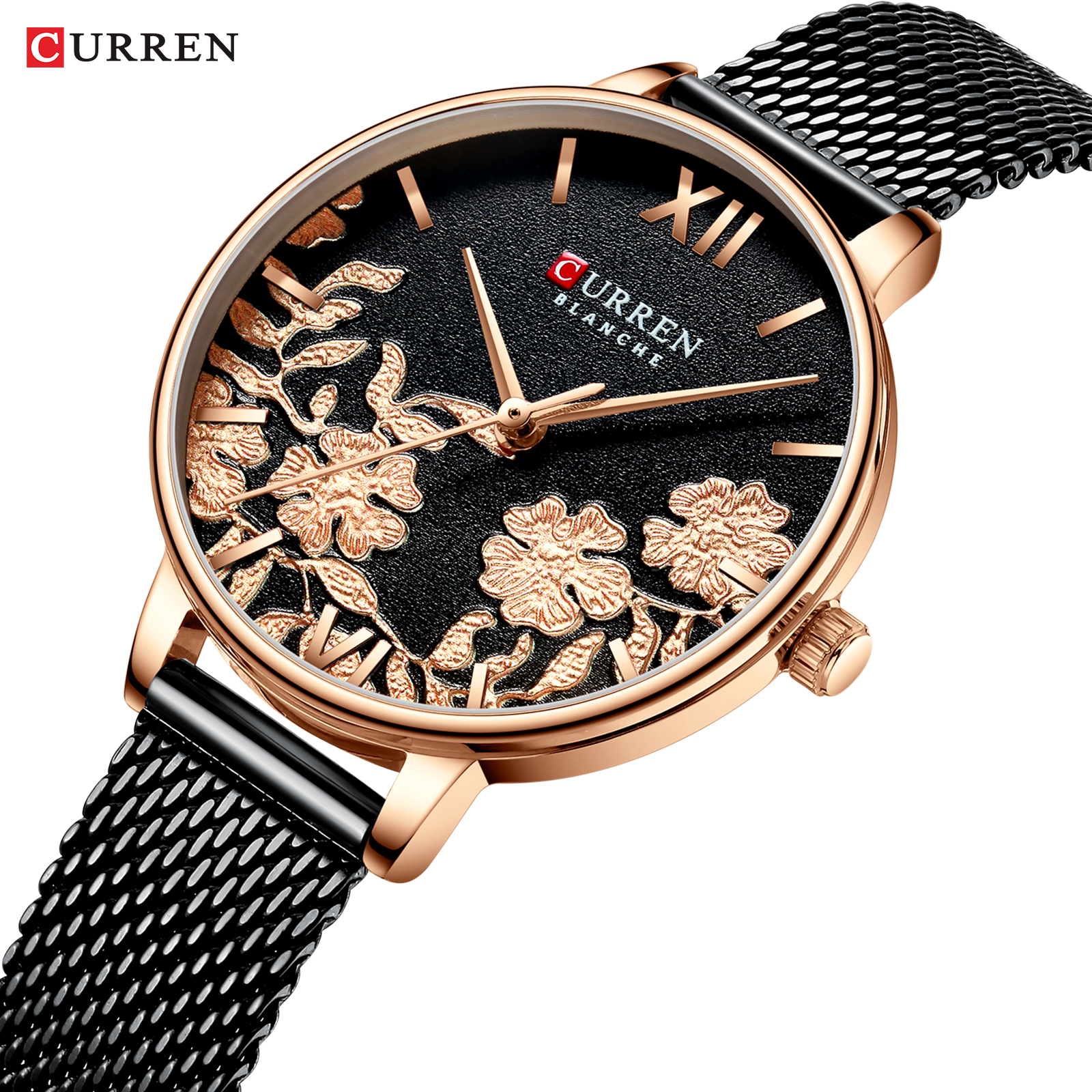 Relogio Feminino CURREN Women Watch Top Brand Luxury 2019 Rose Gold Women Bracelet Watch For Ladies Wrist Watch Montre Femme