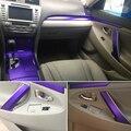 Для Toyota Camry XV40 2006-2011 внутренняя Центральная панель управления дверная ручка 5DCarbon Fiber наклейки для автомобиля Стайлинг Аксессуары